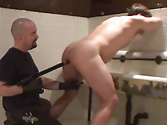 wetroom jockstrap intake hairy anal play milking